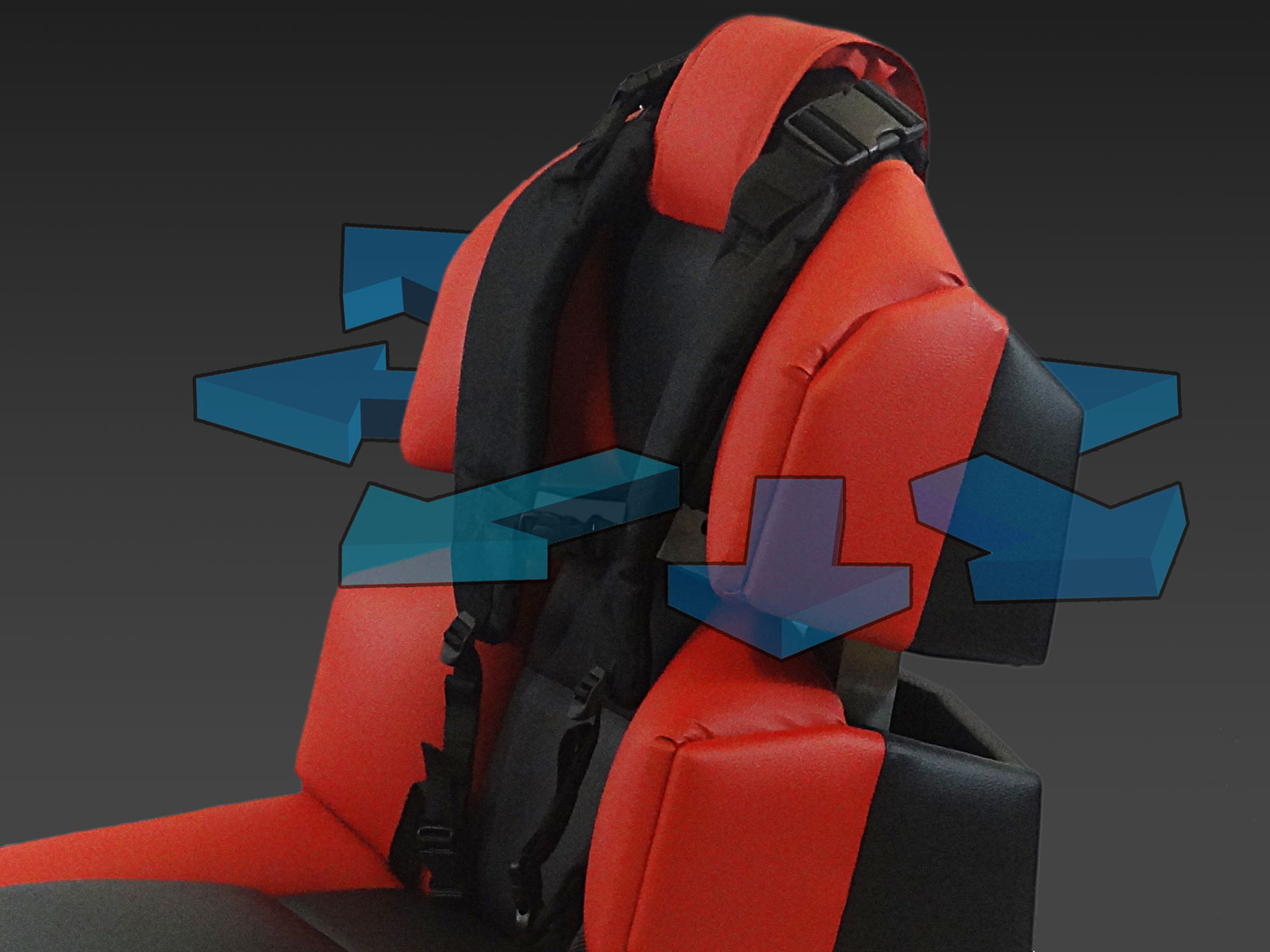 GS-cobra motion simulator, visualization of forces